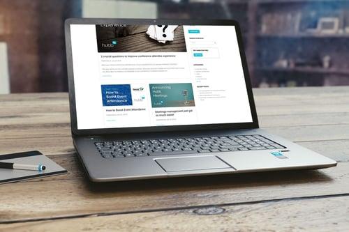 Hubb Blog on Desktop - After