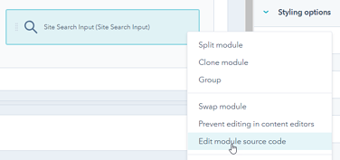 HubSpot Edit Module Source Code