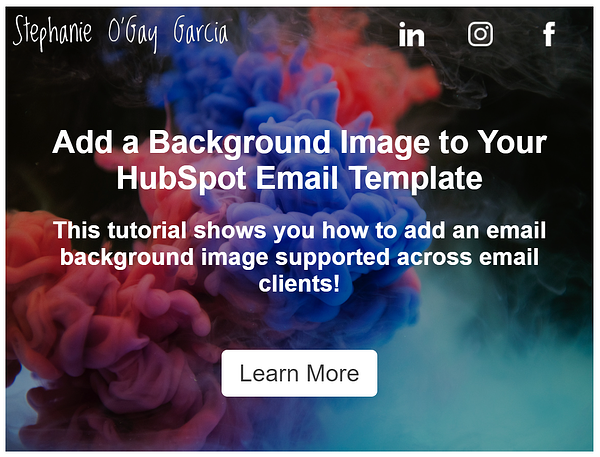 Email Background Image Preview