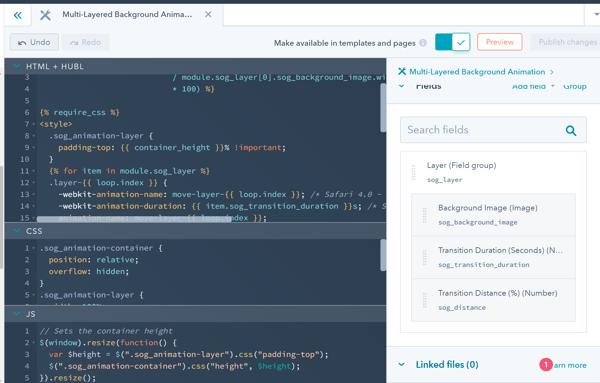HubSpot Multi-Layer Animation Custom Module