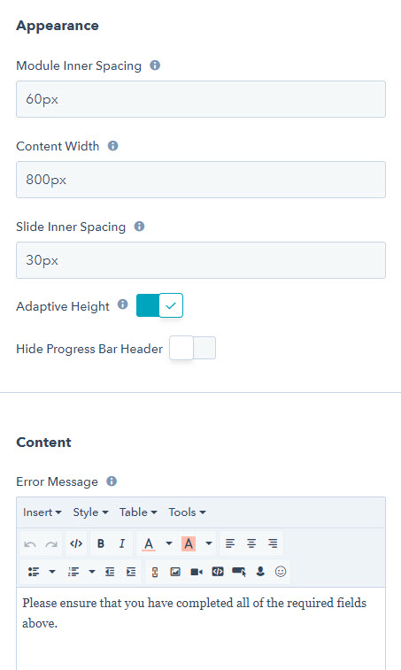 HubSpot Multi-Step Form Slider: Other Customisations