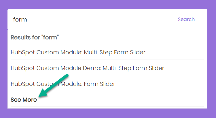 """add a """"See More"""" Option on Site Search Input Suggestions"""