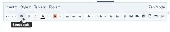 HubSpot Rich Text Editor: Source Code