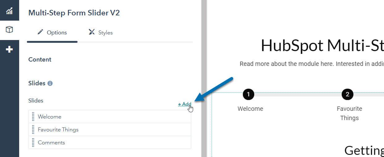 HubSpot Multi-Step Form Slider - Add a Slide