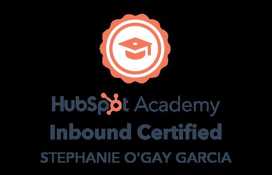 Inbound Certified - Stephanie O'Gay Garcia