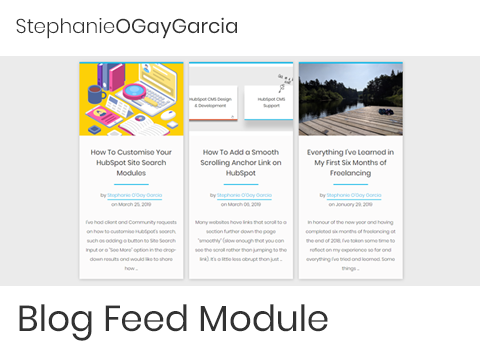 Marketplace - Blog Feed Module